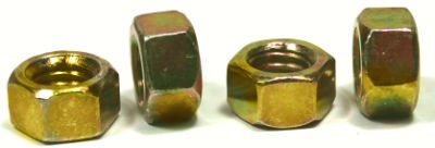 1/2-13 Finished Hex Nuts / Grade 8 / Zinc Yellow / Made in USA