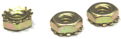 10-32 Hex Keps Nuts / Steel / Zinc Yellow