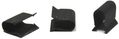 C27091-014-4 Tinnerman Style U-Type Speed Clips / No Hole / Steel / Black Phos