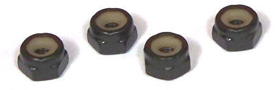 1/4-20 Light Hex Standard Nylon Insert Locknuts / 18-8 Stainless Steel / Black Oxide