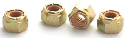 1/4-20 Light Hex Standard / NE Nylon Insert Locknuts / Steel / Zinc Yellow