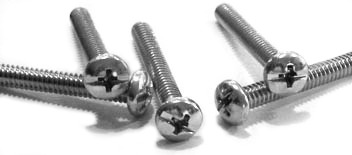 "4-40 x 3/8"" Machine Screws / Combo / Pan Head / 18-8 Stainless Steel"