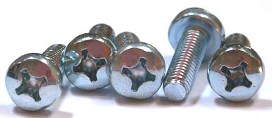 M4-0.7 x 10 mm Machine Screws / Phillips / Pan Head / Steel / Zinc / DIN7985A