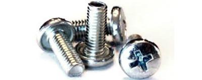 "4-40 x 1/4"" Machine Screws / Phillips / Binder Undercut Head / Steel / Zinc"