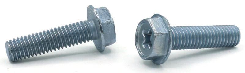 """8-32 x 5/8"""" Machine Screws / Phillips / Hex Washer Head / Steel / Zinc"""