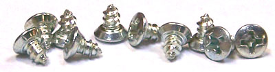 "#8 x 3/8"" Type AB Self-Tapping Screws / Phillips / Oval Undercut Head / Steel / Zinc"