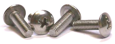 "10-24 x 1"" Machine Screws / Phillips / Truss Head / Steel / Zinc"