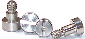 """8-32 x 1"""" Precision Shoulder Screws / Slotted / Stainless Steel"""