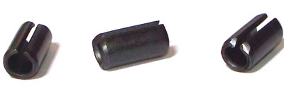 M4 x 35mm Roll (Spring) Pins / Steel / Plain (Thermal Black) / ISO 8752