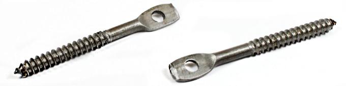 "1/4 x 4"" Lag Screws / Acoustical Eye / Steel / Plain"