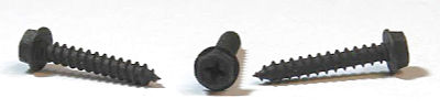 """#8 x 3/8"""" Type A Self-Tapping Screws / Phillips / Hex Washer Head / Steel / Black Oxide"""