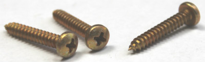 "#4 x 1/2"" Type AB Self-Tapping Screws / Phillips / Pan Head / Steel / Zinc Yellow"