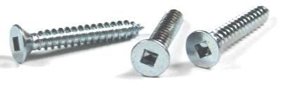 "#8 x 2 1/2"" Type AB Self-Tapping Screws / Square / Flat Head / Steel / Zinc"