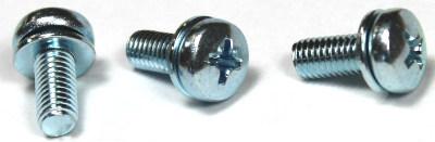 M3-0.5 x 8 mm SEMS Screws / Flat Washer / Phillips / Pan Head / Steel / Zinc
