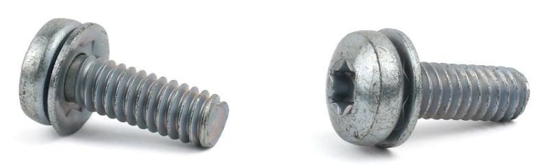 """1/4-20 x 3/4"""" SEMS Screws / Square Cone Washer / Six-Lobe (Torx®) / Pan Head / Steel / Zinc"""