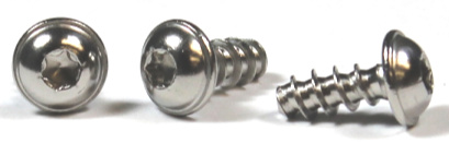 M3-1.34 x 12 mm Type PT Style Thread Forming Screws / Six-Lobe (Torx®) / Round Washer Head / Steel / Zinc