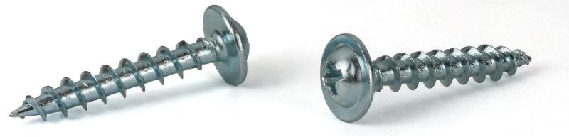 """#8 x 7/16"""" Deep Thread Wood Screws / Phillips / Round Washer Head / Steel / Zinc"""