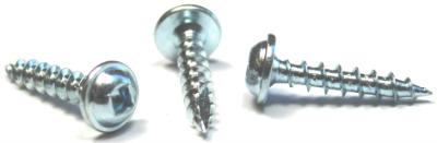 """#10 x 3/4"""" Deep Thread Wood Screws / Square / Round Washer Head / Type 17 Pt /  Steel / Zinc"""