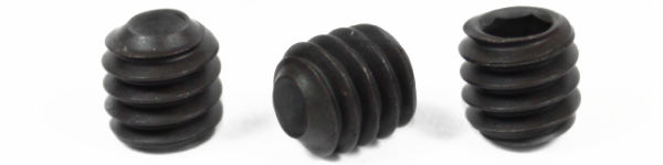 "3/8-24 x 1"" Cup Point Socket Set Screws / Alloy Steel / Black Oxide"