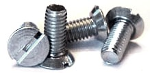 "4-40 x 3/16"" Machine Screws / Slotted / Flat Undercut Head / Steel / Zinc"