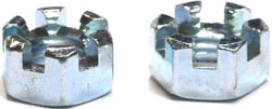 9/16-18 Slotted Hex Nuts / Steel / Zinc
