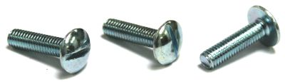 "6-32 x 4"" Machine Screws / Slotted / Truss Head / Steel / Zinc"