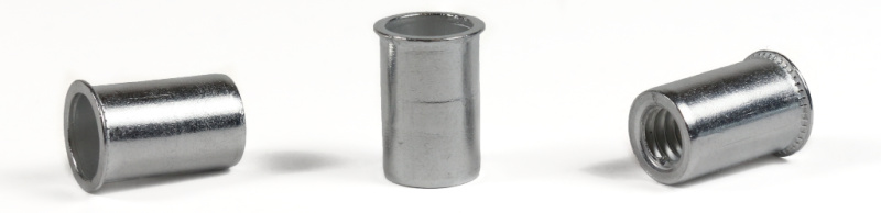8-32 (Max Grip .080) Small Flange Threaded Inserts / Aluminum