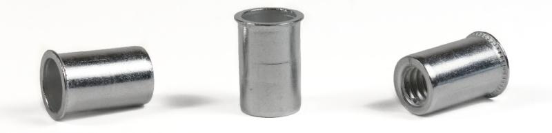 1/4-20 (Max Grip .165) Small Flange Threaded Inserts / Aluminum