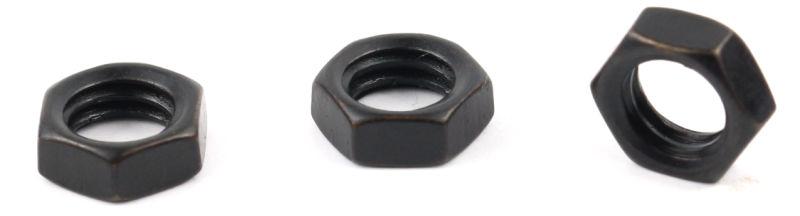 6-32 x 1/4 Small Pattern Hex Machine Screw Nuts / Steel / Black Zinc