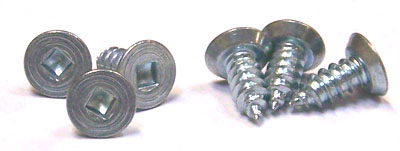 """#10 x 1/2"""" Type AB Self-Tapping Screws / Square / Flat Undercut Head / 18-8 Stainless Steel"""