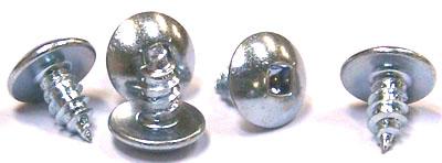 "#6 x 1/4"" Type AB Self-Tapping Screws / Square / Truss Head / Steel / Zinc"
