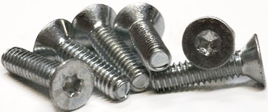 M2.5-0.45 x 12 mm Trilobe Thread Forming Screws for Metal / Six-Lobe (Torx®) / Flat Head / 18-8 Stainless Steel (A2) / DIN7500ME