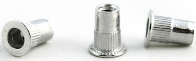 3/8-16 (Max Grip .312) Large Flange Ribbed Blind Threaded Inserts / Aluminum Alloy 5056