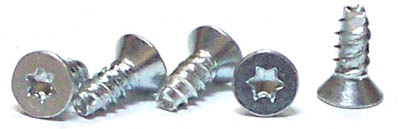 "#4 x 5/8"" Thread Forming Screws for Plastics (48-2) / Six-Lobe (Torx®) / Flat Head / Steel / Zinc"
