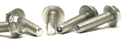 "1/4-20 x 5/8"" Type 1 Thread Cutting Screws / Unslotted / Hex Washer Head / Steel / Zinc"