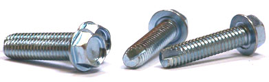 "1/4-20 x 1 1/2"" Type 23 Thread Cutting Screws / Unslotted / Hex Washer Head / Steel / Zinc"
