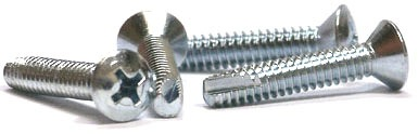 "8-32 x 1/2"" Type 23 Thread Cutting Screws / Phillips / Oval Head / Steel / Zinc"