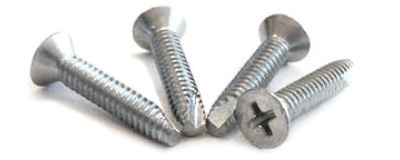 "1/4-20 x 2"" Type 23 Thread Cutting Screws / Phillips / Flat Head / Steel / Zinc"
