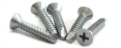 "#8 x 5/8"" Type 25 Thread Cutting Screws / Phillips / Flat Head / Steel / Zinc"