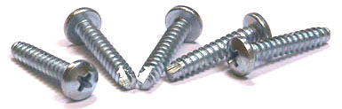 "#6 x 5/8"" Type 25 Thread Cutting Screws / Phillips / Pan Head / Steel / Zinc"