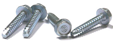 "3/8"" x 1"" Type 25 Thread Cutting Screws / Unslotted / Hex Washer Head / Steel / Zinc"