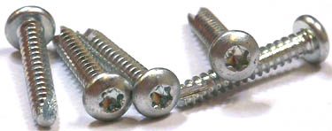 "1/4"" x 3/4"" Type 25 Thread Cutting Screws / Six-Lobe (Torx®) / Pan Head / Steel / Zinc"