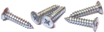 "#12 x 1"" Type AB Self-Tapping Screws / Phillips / Flat Undercut Head / 18-8 Stainless Steel"