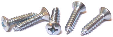 "#8 x 1 1/2"" Type AB Self-Tapping Screws / Phillips / Oval Head / Steel / Zinc"