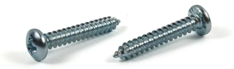 "#10 x 3/4"" Type AB Self-Tapping Screws / Phillips / Pan Head / Steel / Zinc / Serrated"