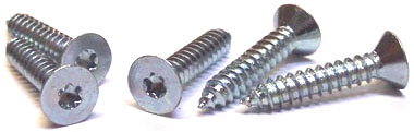"#8 x 5/8"" Type AB Self-Tapping Screws / Six-Lobe (Torx®) / Flat Head / Steel / Zinc"