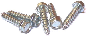 "#12 x 3/4"" Type A Self-Tapping Screws / Unslotted / Hex Washer Head / 18-8 Stainless Steel"