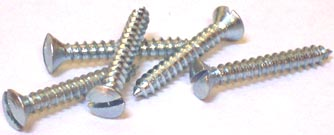 """#8 x 1 1/4"""" Type A Self-Tapping Screws / Slotted / Oval Head / Steel / Zinc"""