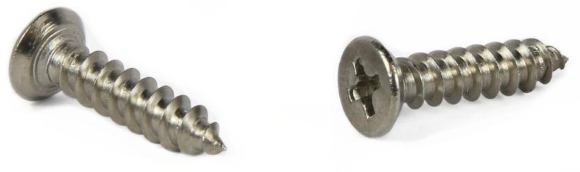 "#8 x 1/2"" Type A Self-Tapping Screws / Phillips / Flat Undercut Head / Steel / Zinc"