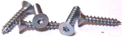 "#10 x 1"" Type A Self-Tapping Screws / Six-Lobe (Torx®) / Flat Head / Steel / Zinc"